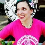 Sarah, manager at Cafe Meeples
